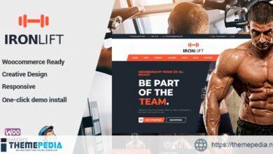 IronLift – Fitness and Gym WordPress Theme [Free download]