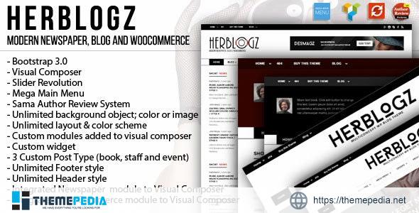 HerBlogz – Clean WP Multiconcept Magazine Theme [Free download]
