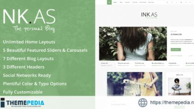 Inkas – The Personal Blog WP Theme [nulled]
