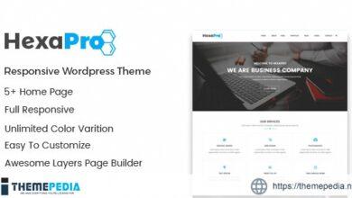Hexapro – Corporate WordPress Theme [Free download]