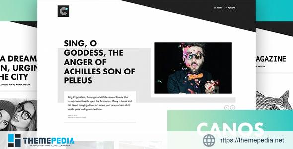 Canos – A Creative WordPress Blog Theme [Free download]