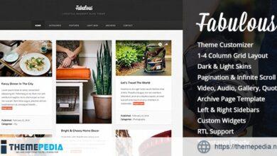 Fabulous – Responsive Masonry Blog WordPress Theme [Free download]