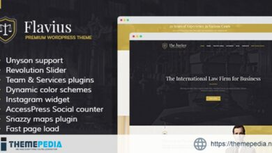 Flavius – Lawyer and Attorney WordPress Theme [Free download]