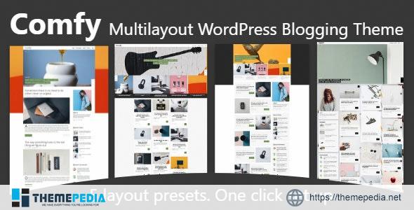 Comfy. Multilayout blog theme [Free download]
