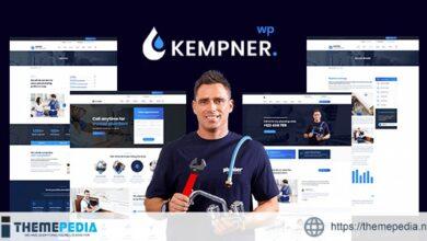 Kempner – Plumber WordPress Theme [Free download]