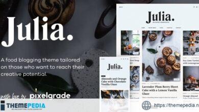 Julia – A Steady Food Blog WordPress Theme [Free download]