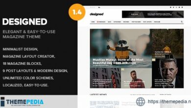 Designed – Newspaper and Blog WordPress Theme [Free download]