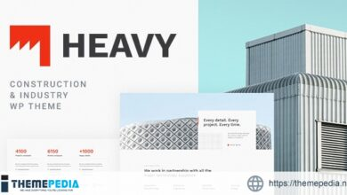 Heavy – Industrial WordPress Theme [Free download]