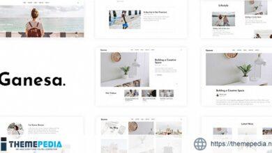 Ganesa – Minimal WordPress Personal Blog Theme [Free download]