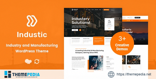 Industic – Factory and Manufacturing WordPress Theme [Latest Version]