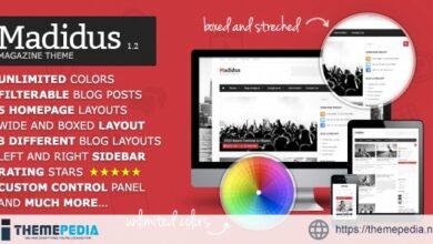 Madidus – Blog & Magazine Theme [Free download]
