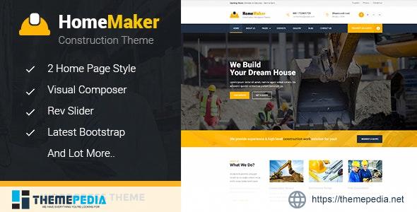 HomeMaker – Construction & Builder WordPress Theme [Free download]