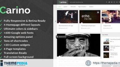 Carino – Retina Responsive WordPress Blog Theme [nulled]
