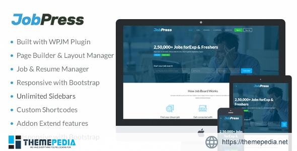 JobPress – Premium WordPress Job Manager Theme [Free download]