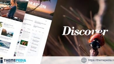 Discover – Travel & Lifestyle MultiConcept Blog Theme [Updated Version]