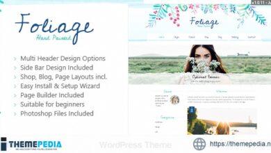 Foliage Watercolor – Creative WordPress Theme [Latest Version]
