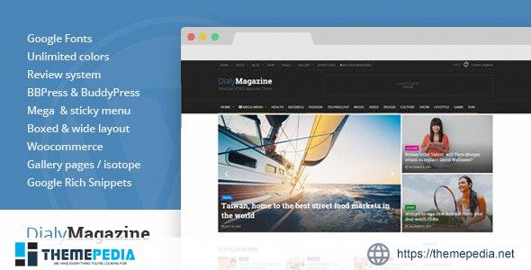 DialyMagazine – Clean & Flat Magazine Theme [Latest Version]