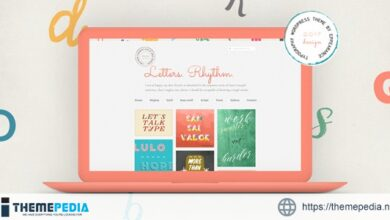 Letters Rhythm. WordPress Blog Theme [Free download]