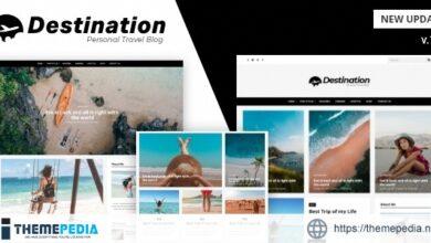 Destination – Travel Blog WordPress Theme [Free download]