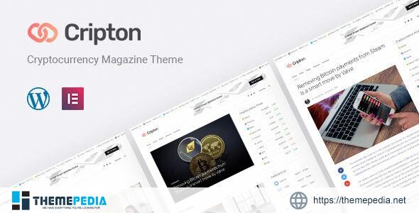 Cripton – Cryptocurrency Elementor Magazine WordPress Theme [Free download]