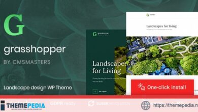 Grasshopper – Landscape Design and Gardening Services WP Theme [Updated Version]