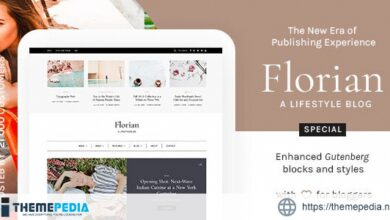 Florian – Responsive Personal WordPress Blog Theme [Updated Version]