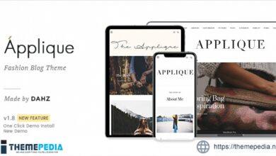 Fashion Blog Theme – Applique [Free download]