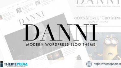 Danni — Minimalist WordPress Blog Theme [Free download]