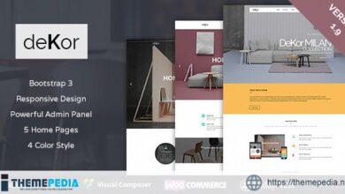 deKor – Interior WordPress Theme [Free download]