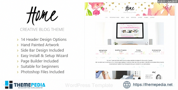 Home Blogger – Creative Shop Theme [Free download]