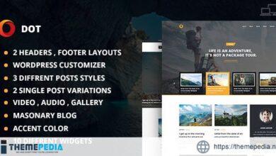 Dot Blog Pro – Creative WordPress Theme For Bloggers [Free download]