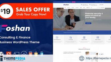 Foshan – Finance, Consulting Business WordPress Theme [Free download]