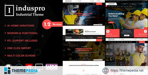 Induspro – Factory and Industrial WordPress Theme [Free download]