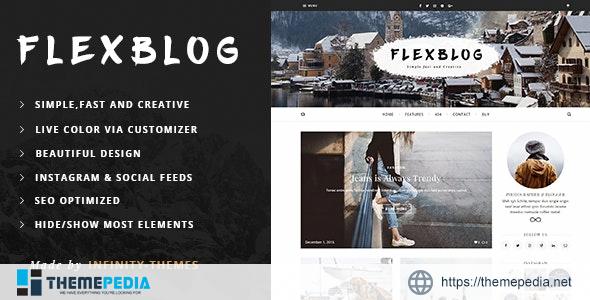 Flexblog – A Personal WordPress Blog Theme [Free download]