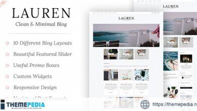 Lauren – Clean & Minimal Blog WordPress Theme [Latest Version]