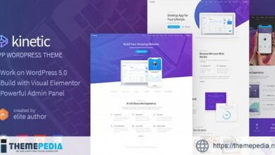 Kinetic – Desktop, Mobile & Product App WordPress Theme [Free download]