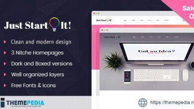 Just Start It – Corporate-Business WordPress Theme [Free download]