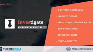 Investigate – Lawyer and Attorney WordPress [Free download]