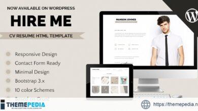 Hireme – Responsive Resume WordPress Theme [Free download]