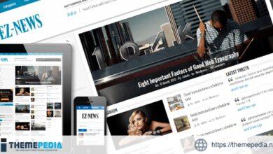 EZ-News Wordpress Theme [Free download]