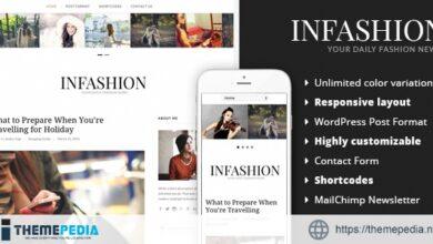 inFashion – Fashion Blog WordPress Theme [Updated Version]