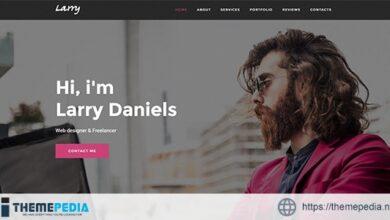Larry. – Personal Onepage WordPress Theme [Free download]