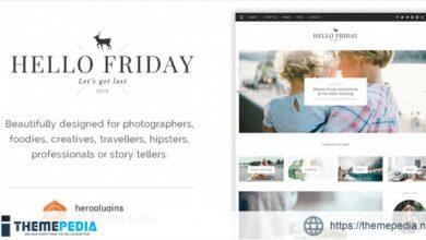 Hello Friday – Elegant Lifestyle Blog Theme [nulled]