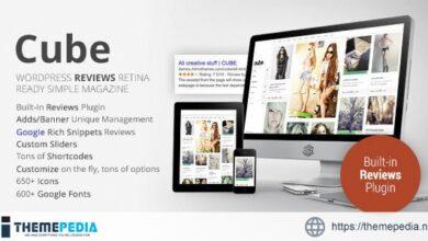 Cube, Multipurpose Simple Reviews Wordpress Magazine [Free download]