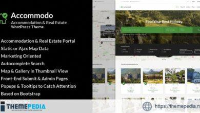Accommodo – Accommodation Travel WordPress Theme [Free download]