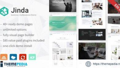 Jinda – Elegant Multi-Concept WordPress theme [Free download]