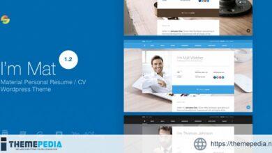 I am Mat – Material Personal Resume – CV vCard WordPress Theme [Free download]