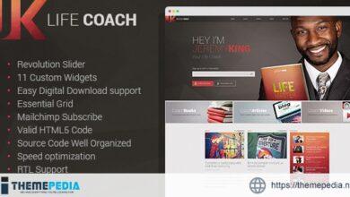 Life Coach – Public Speaker Personal Page WordPress theme [Latest Version]