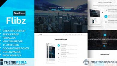 Flibz – One Page Parallax WordPress Theme [Free download]