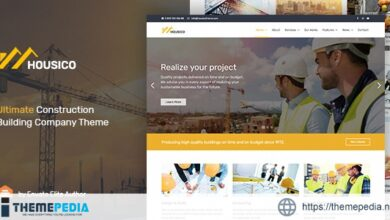 Housico – Ultimate Construction Building Company Theme [Free download]